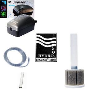 AAP Hydro Sponge Filter Mini, Aquarium Filter/Air Pump COMBINATION, with tubing