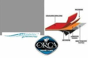 """TESSUTO GOMMATO ORCA 215 """"NEPTUNE GREY""""NEOPRENE/HYPALON 1000DN h150cm PER GOMMON"""