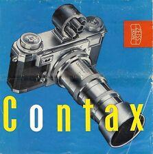 1950s ZEISS IKON CONTAX IIa 35mm RANGEFINDER CAMERA BROCHURE -CONTAX lla