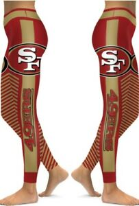 San Francisco 49ers Small to 2X-Large Women's Leggings New