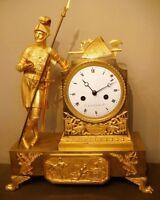 """Pendule Empire """"Mystère de l'Amour'' en Bronze doré (french clock ormolu)"""