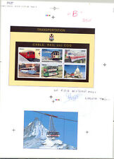 Mali #773, 777 Trains 1v M/S of 6 & 1v S/S Imperf Proofs on Collective Sheet