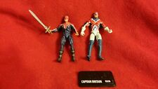 Marvel Universe Captain Britain Action Figure Lot of 2 w/Sword & Stand