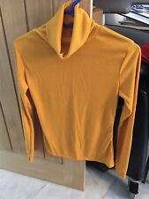 Ladies Roll Neck Ribbed Mustard Jumper Size Med/large New
