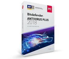 Bitdefender Antivirus Plus 2018 - 3 PC, 1 Year (Key - Activation code)