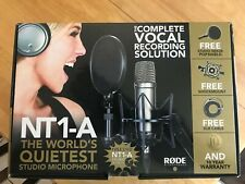 Matched set Rode NT1-A Studio Package Cardioid Condenser Microphones