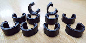 10x MTB Road Cycle Hose Clips for Brakes Outer Cable  Guides Plastic C P910749