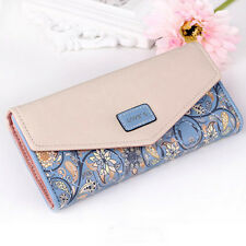 Women Leather Long Wallet Purse Handbag Cash Card Holder Clutch Handbags Purses