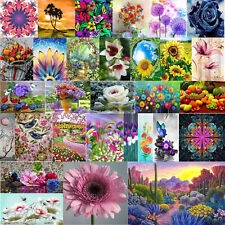 Flower 5D Diy Full Round Drill Diamond Painting Mosaic Coloring Rhinestone Decor