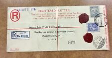 1926 Barbados REGISTERED  Postal Stationery  Envelope Cover to Philadelphia