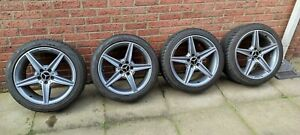 """GENUINE MERCEDES C CLASS AMG W205 Cklass STAGGERED ALLOY WHEELS WITH TYRES 18"""""""