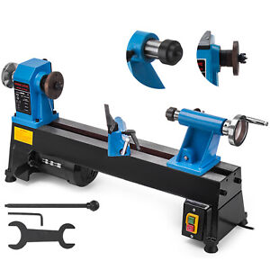 Mini Benchtop Wood Lathe 10''x18'' 500-3200RPM Variable Speeds Woodworking Tool