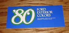 1980 Ford Passenger Car Exterior Colors Brochure 80 Mustang Thunderbird