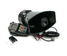 Mega Sirene 7 Tons US Noir Avec Micro 12v - Haute Puissance 115dB