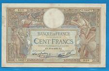 GERTROLEN  Billet 100 FRANCS  Luc Olivier Merson 30-6-1938  G.59977