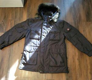 Mens Wellensteyn Centurion Black Jacket Coat Size Large Winter