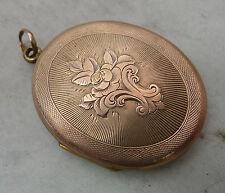 Placcato in oro antico medaglione ciondolo 12.9g 3.4cm x 4cm la mia ref A615517