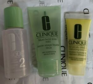 Clinique 3 Step Dramatically Moisturizing Lotion Facial Soap Clarifying Type 1/2