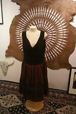 SL Fashions sleeveless casual knee length black and red dress womens size 16W
