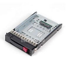 "HP 3,5"" Festplatten Rahmen Tray Caddy 373211-001 + 2,5"" Adapter 654540-001 NEU"