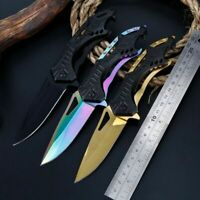 Portable Folding Knife Outdoor Steel Blade Survival Tactical Tools Pocket Knives