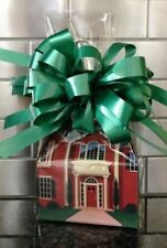 Welcome Home Candy Gift Box-Basket Wrapped With Green Bow & Card