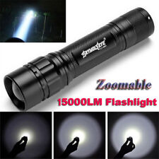 Zoomable 15000LM 3Modes XML T6 LED 18650 ZOOM Flashlight Torch Lamp Light