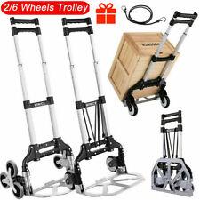 Nesaila Folding Hand Truck Heavy Duty Stair Climbing Cart Portable Hand Cart New
