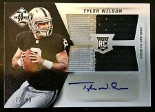 2013 Limited #38 Tyler Wilson Autograph 2 Color Jumbo Patch RC 27/49 Raiders