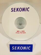 """SEKONIC L-308S light meter """"PRESS RELEASE"""" CD (ORIGINAL PRINT JAPAN)"""