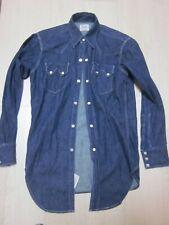 LEVIS Short Horn Made In USA 555 Denim Shirt BigE Size s 36 Vintage Reproduction
