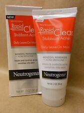 Neutrogena Rapid Clear Stubborn Acne Daily Leave On Mask 2 oz New Exp 11/17 +