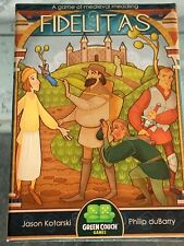 Fidelitas Card Board Game Green couch Games Kickstarter Edition Played Once