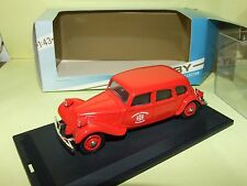 CITROEN TRACTION POMPIERS DE MULHOUSE TEK HOBY 1:43