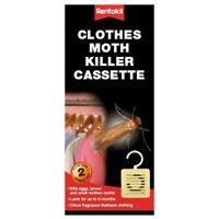 2 x Rentokil Clothes Moth Killer 6 Months Cassette, Hangable Freshens Clothing