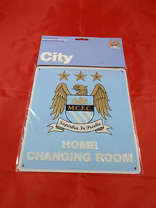 Manchester City FC Metal ''Changing Room'' Sign - Official Merchandise