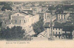 JANESVILLE WI – Janesville Birdseye View – udb (pre 1908)