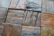 MOSAICO LEGNO pannelli per parete, legno massello recuperata Piastrelle, arredamento per pub, bar ecc.