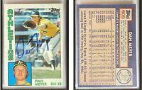 Dan Meyer Signed 1984 Topps #609 Card Oakland Athletics Auto Autograph