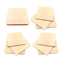 10pcs Wood Square Plaque Unfinished Wooden Cutout Shapes Crafts DIY Projects