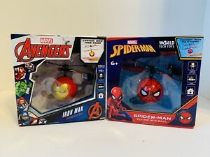 WorldTech Marvel Iron Man Spider-man Flying UFO Ball New