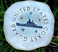 "Coast guard plaque mold concrete plaster military mould 7.75"" x 3/4"" thick"