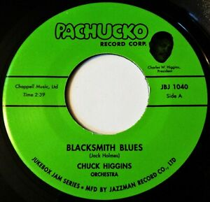 CHUCK HIGGINS Blacksmith Blues VINYL 45 Rock & Roll R&B Scat Jukebox Jam Record