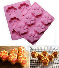 Cat Dog Paw Shape Silicone Bakeware Mold Chocolate Cookie Candy Baking Mould BT