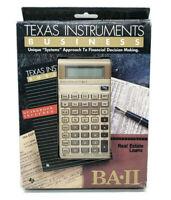 Texas Instruments BAII Business Financial Calculator w/ Guidebook Vtg 1987 NOS