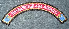 2010 National Boy Scout Jamboree Adult 100% Program Award Rocker Patch MINT! Jam