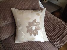 "4 22"" x 22"" Trendy Cream and Beige cushion covers."