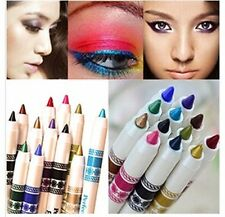 12 Color Glitter Lip liner Eye Shadow eye liner Pencil Pen Cosmetic Makeup Set