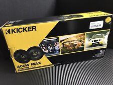 "Kicker CSC65 6.5"" Coaxial Speakers Polypropylene Woofer Cones 100 Watts RMS"