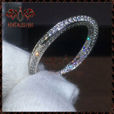 14k White Gold Round Cut Engagement Bridal Solitaire Band Diamond Ring 0.50 Ct